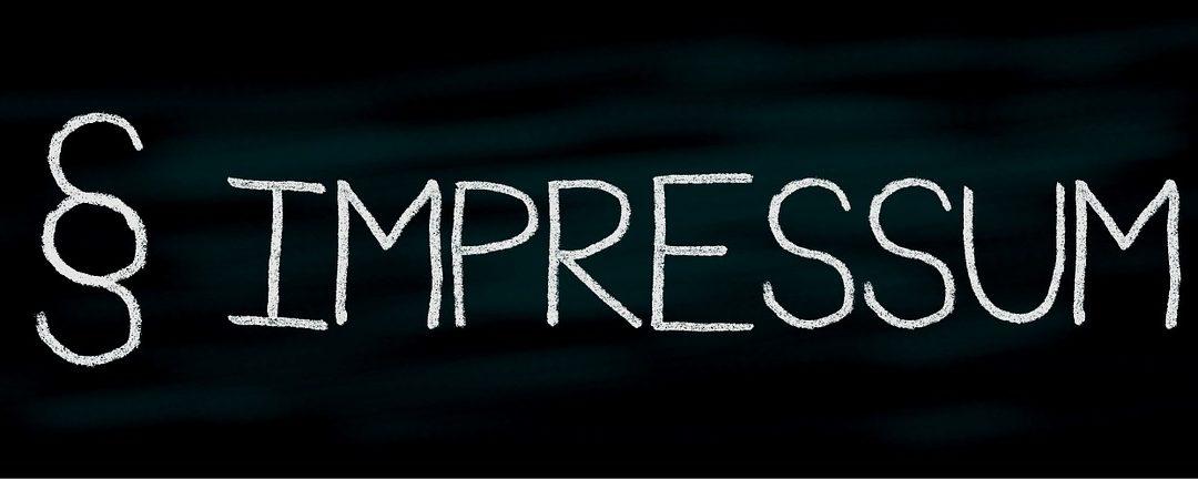 Das Impressum – alle wichtigen Punkte